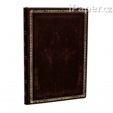 Paperblanks zápisník Black Moroccan Flexis mini linkovaný 5403-0