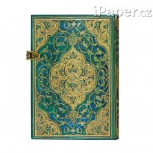 Paperblanks zápisník Turquoise Chronicles mini linkovaný 3216-8
