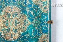 Paperblanks zápisník Turquoise Chronicles midi linkovaný 3214-4